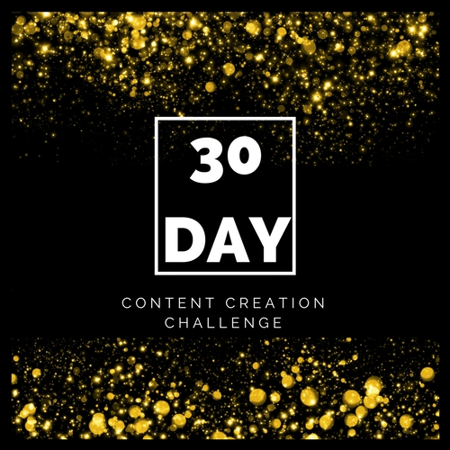 30 Day Content Creation Challenge Logo